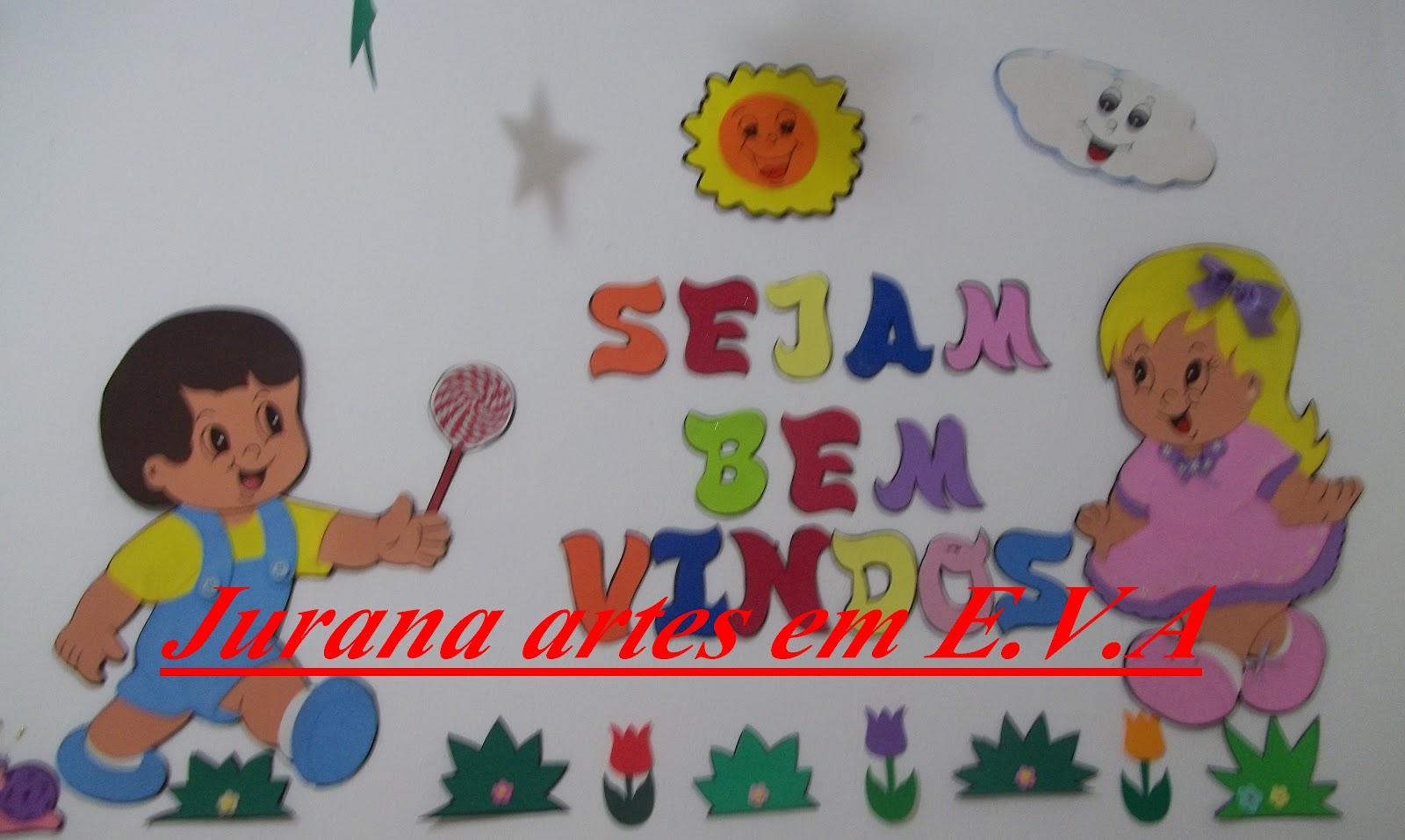 decoracao de sala aula educacao infantil : decoracao de sala aula educacao infantil:Jurana artes em E.V.A: Decoração sala de Aula