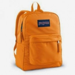 jansport superbreak backpack in orange