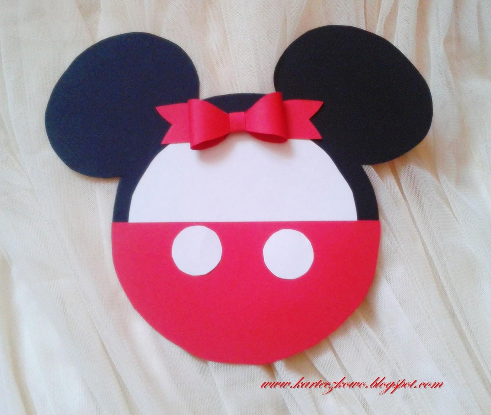 Zaproszenia Zaproszenia Urodzinowe Dla Dzieci Mickey Mouse
