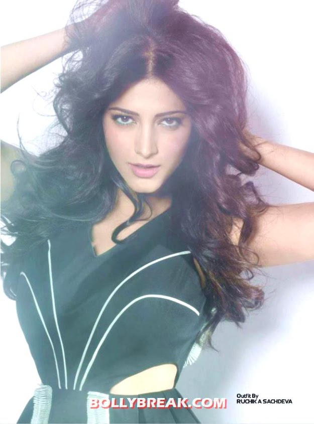 Shruti Hassan Hot Photo Exhibit magazine - Shruti Hassan Exhibit Magazine Full scans - 2012
