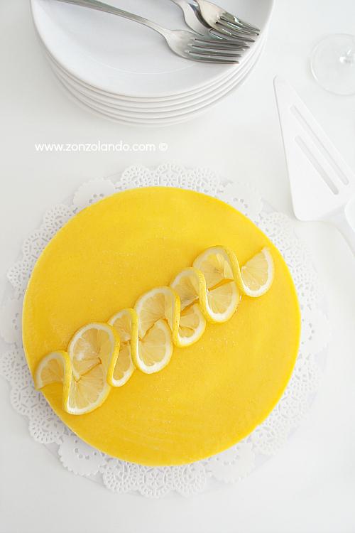 Torta semifreddo al lemon curd ricetta recipe come utilizzare crema al limone dolce compleanno agli agrumi