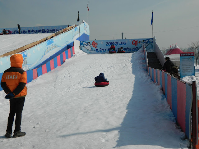 The Kids snow slide at the Ttukseom PArk at Seoul