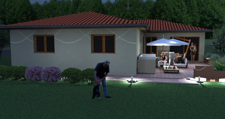 Amazing Photos,: 3D front Elevation of Architecheral Home 1