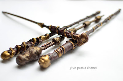 Give peas a chance ollivander 39 s apprentice wand tutorial for Wooden elder wand for sale