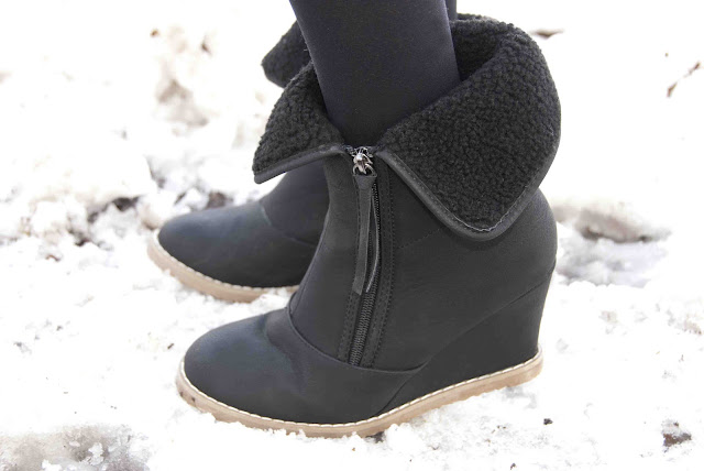 shoes, buffalo, winter, black