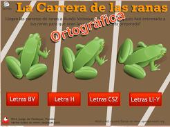 La carrera de las ranas ortograficas