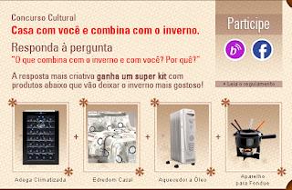 """Concurso Cultural """"Casa com você e combina com o inverno"""""""