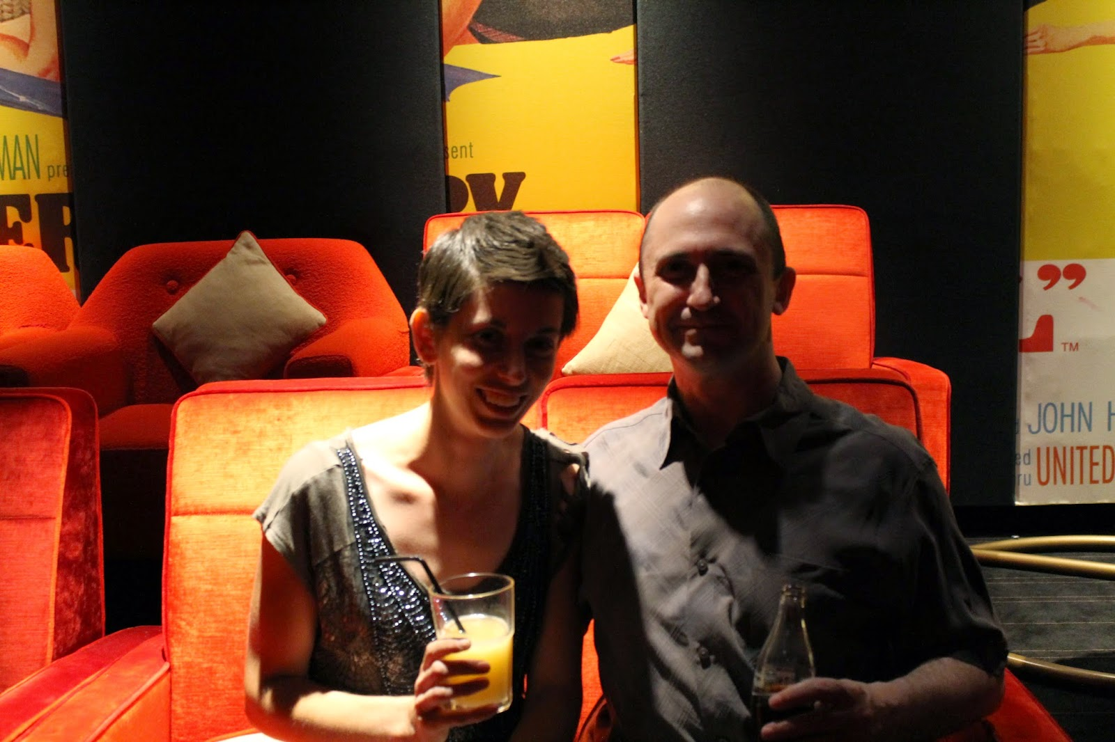 Husband and myself at Everyman cinema