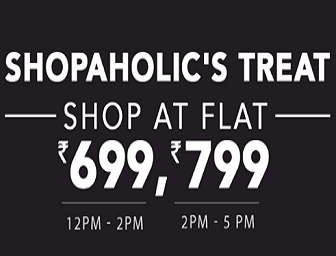 Jabong Shopaholic's Treat: Everthing at Flat Rs. 699/799
