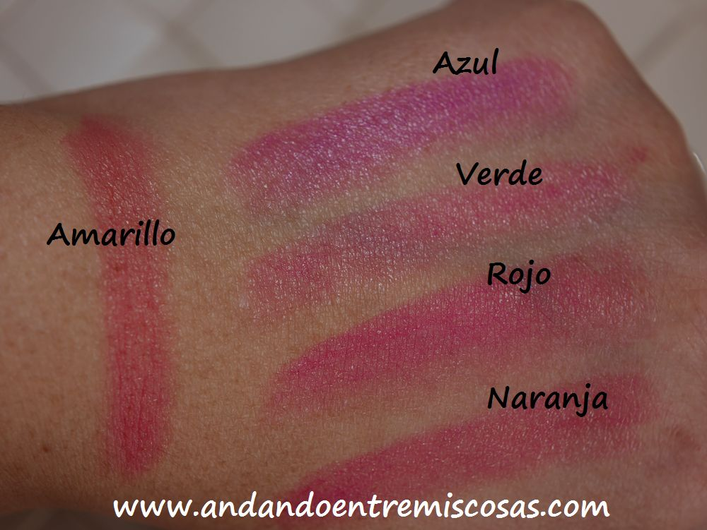 Pintalabios marroquíes, swatches