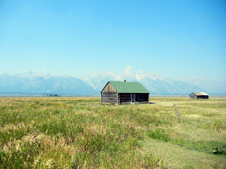 Home on Mormon Row in Moose in Grand Teton National Park in Wyoming