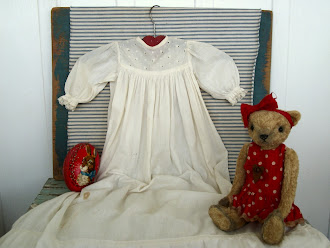 Early Victorian Childs Sleeping Gown - 1800's - staining, and worn. Excellent for hanging, display.