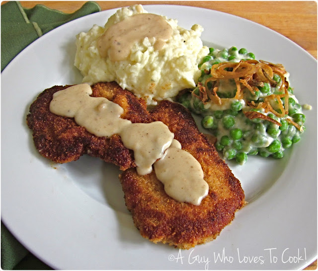 Garlicky Pork Schnitzel with Loaded Mashed Potatoes
