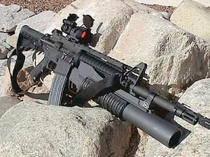 M-4 A1 com lança granada e mira optica