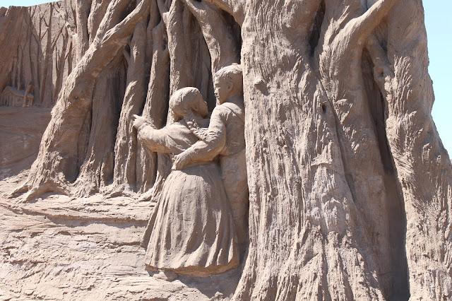 fairy tales sand sculpture at weston sand festival 2015