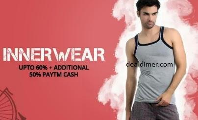 Innerwear & Sleepwear Addiitonal 50% Cashback