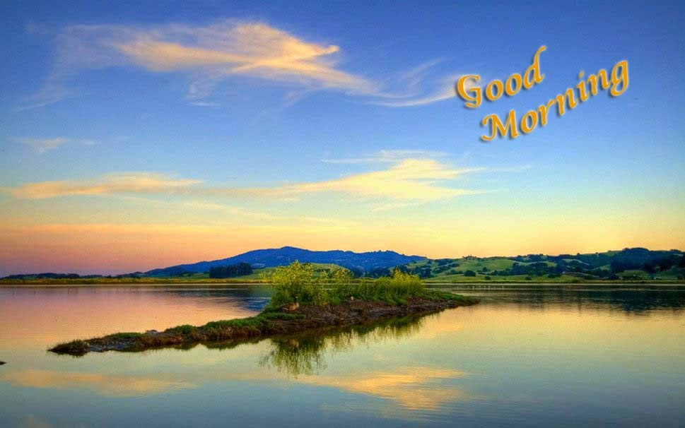 good-morning-clouds-sky-lake-water-hills