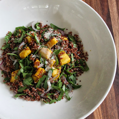 Quinoa Squash Salad with Spicy Buttermilk Dressing