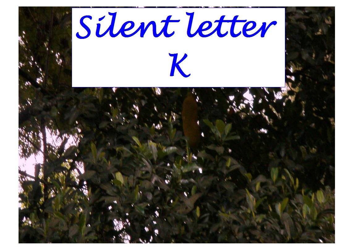 Silent Letter K Silent Letters In English Words