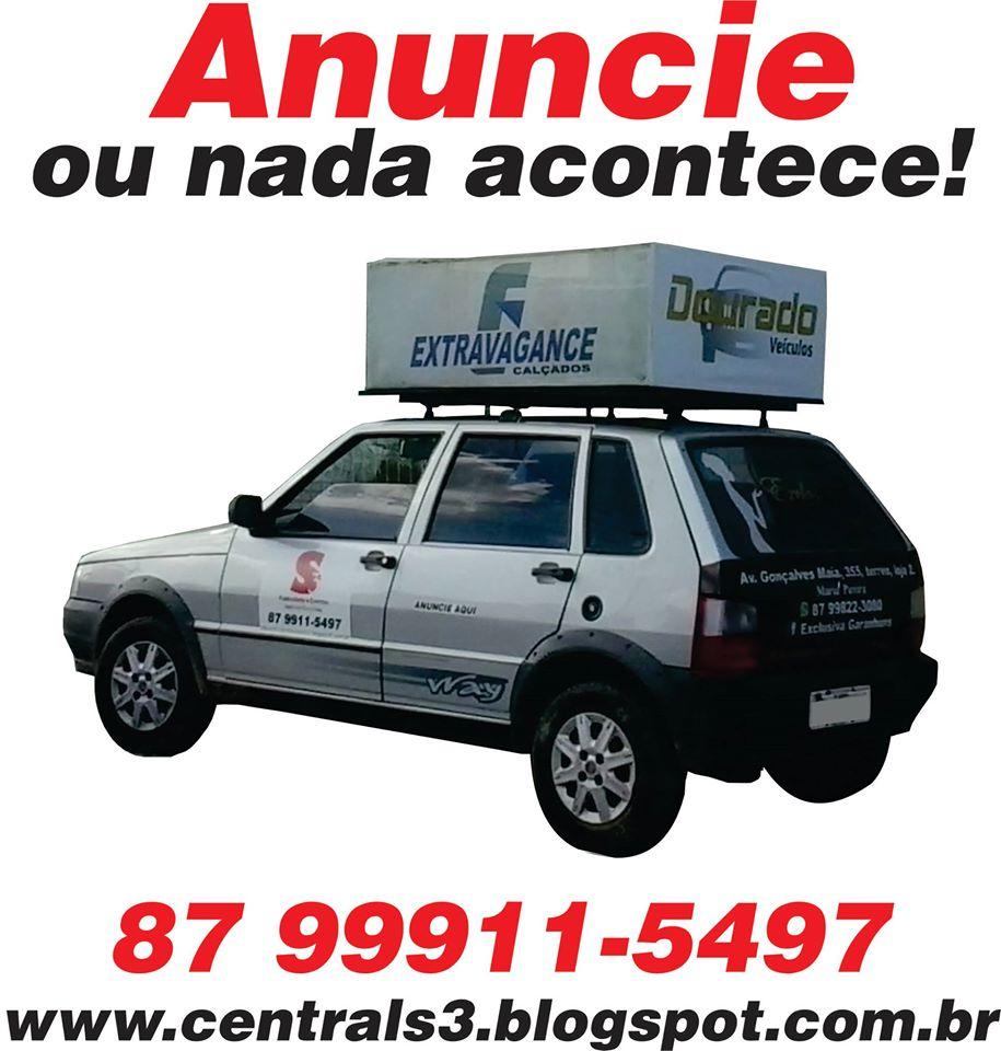 Anúncio exclusivo e agendado no carro de som por apenas R$: 25,00 mais informações é só ligar para