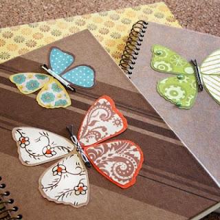 Reciclatex Cómo decorar una libreta con mariposas