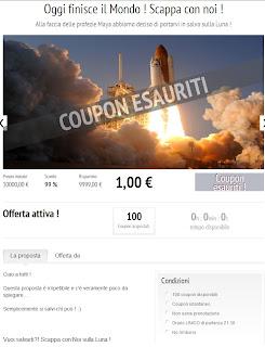 coupon per la fine del mondo