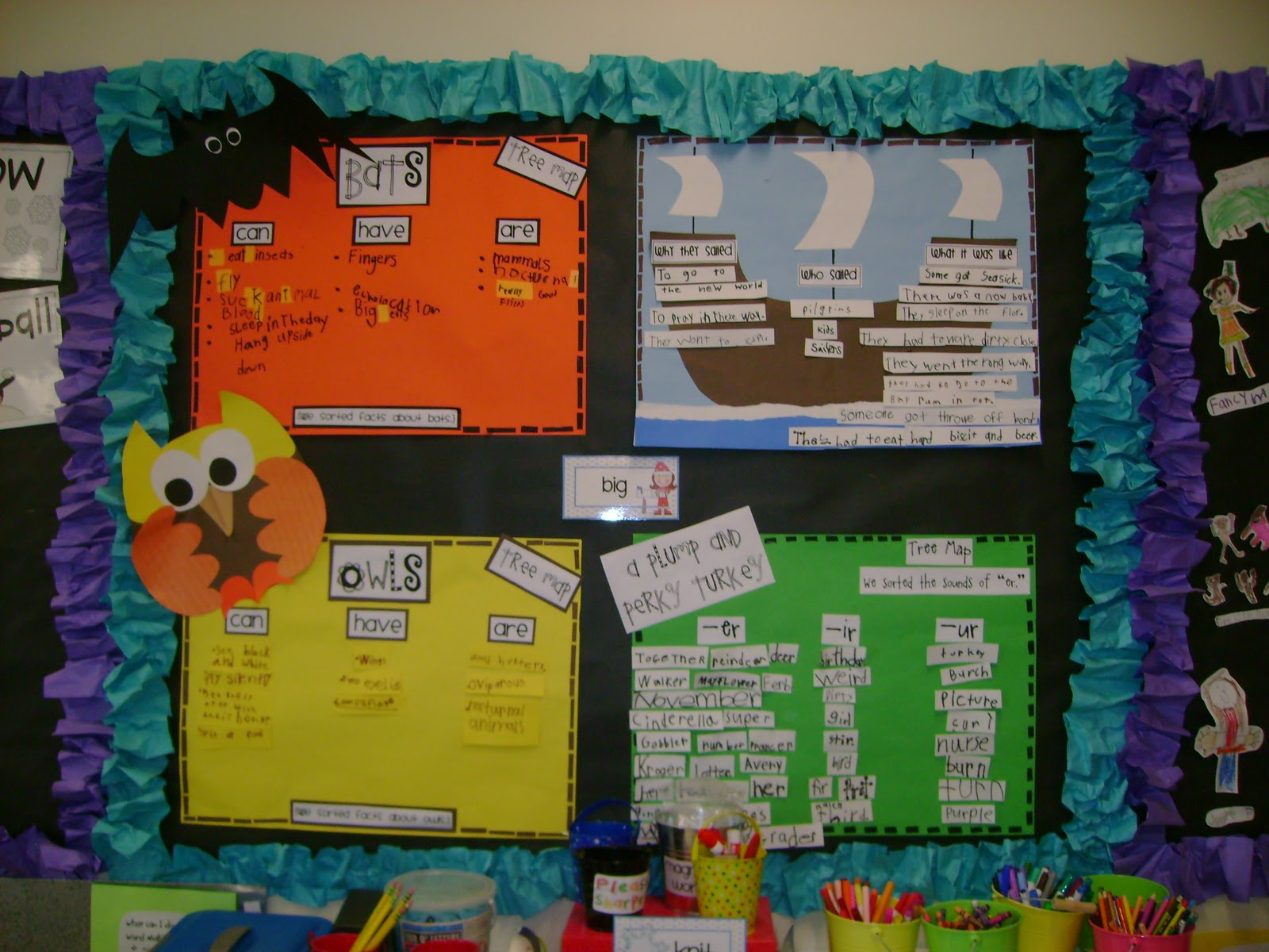 Mission organization peace love and first grade for Bulletin board organization