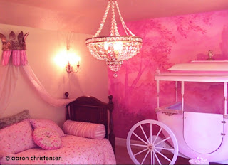 Custom Princess Carriage, Mural and Bedroom Design by Embellishmentskids.com