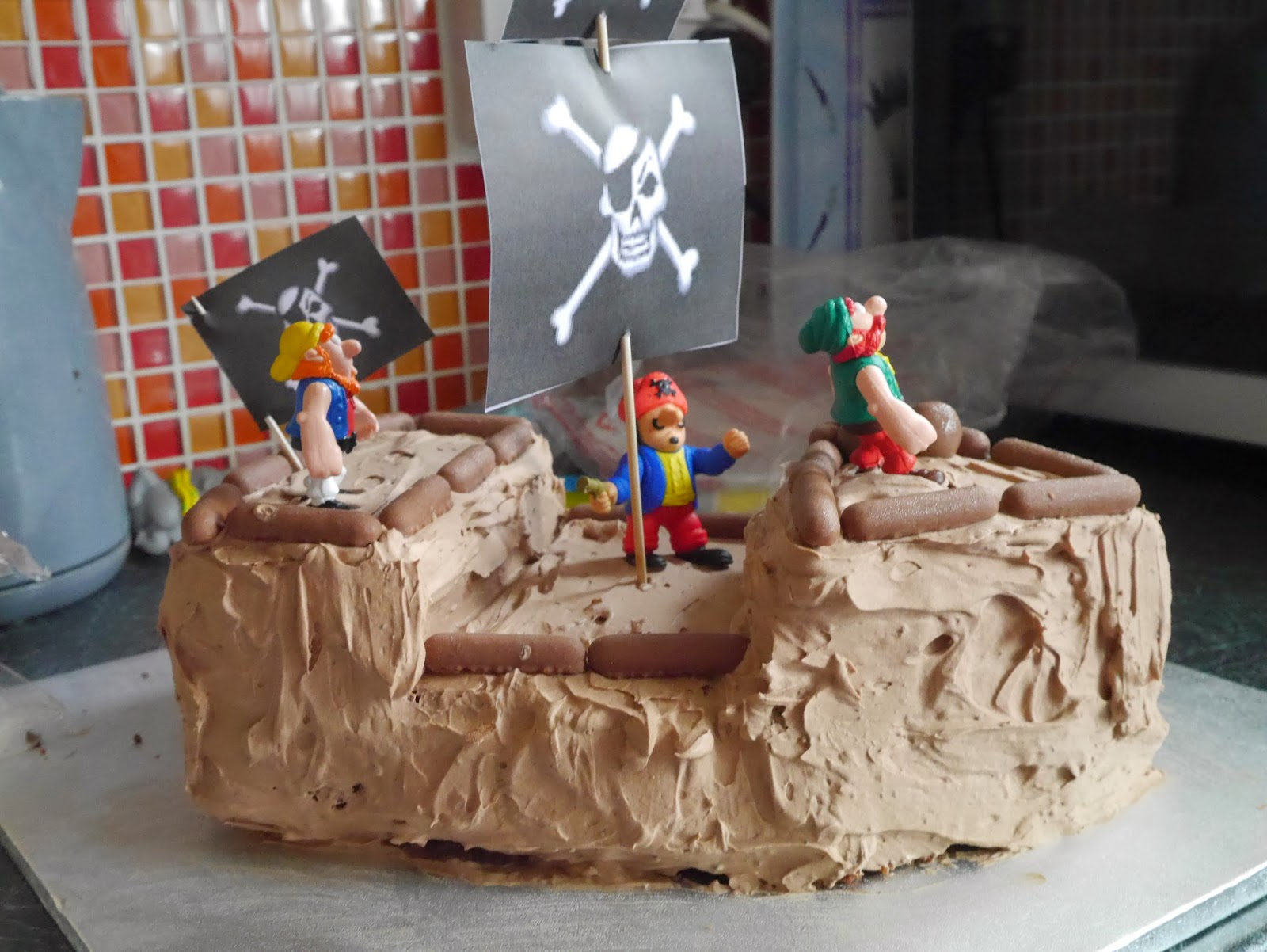 Pirate Ship Birthday Chocolate Cake