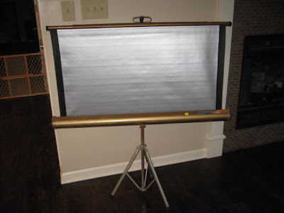 Remodel this house projector screen upcycle for Paint projector screen