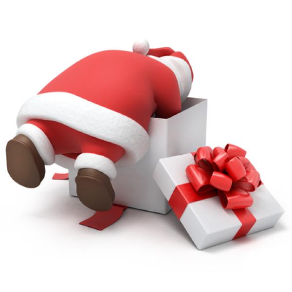 Santa Claus Prepares a Gift