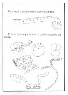 Atividades de 1° ano Fundamental Matemática - Medidas - Metro