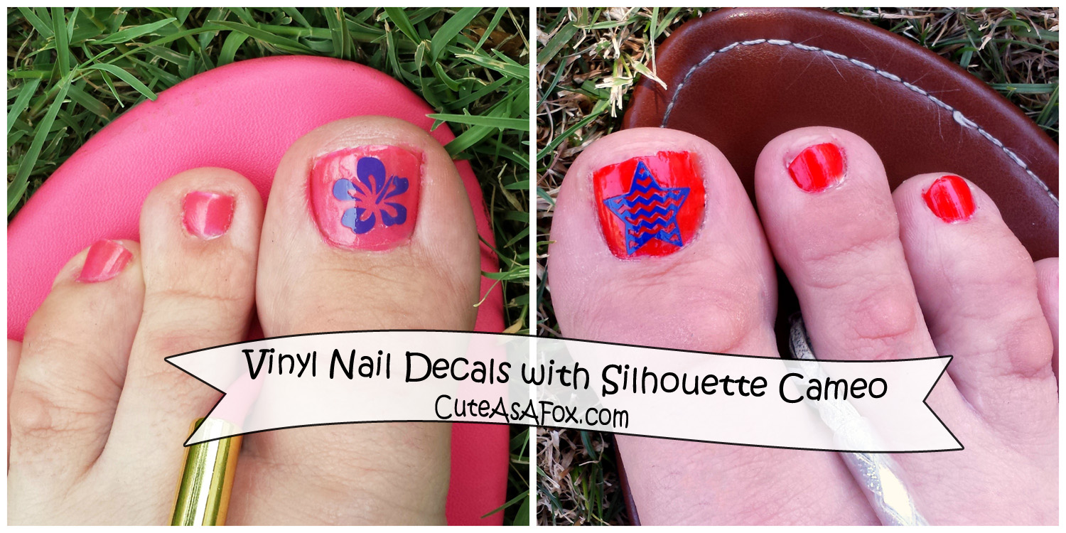 Vinyl Nail Decals, Big sales, and a Silhouette Portrait Giveaway