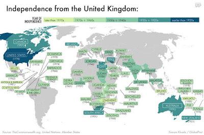 英国 独立 国 世界地図 マップ 大英帝国