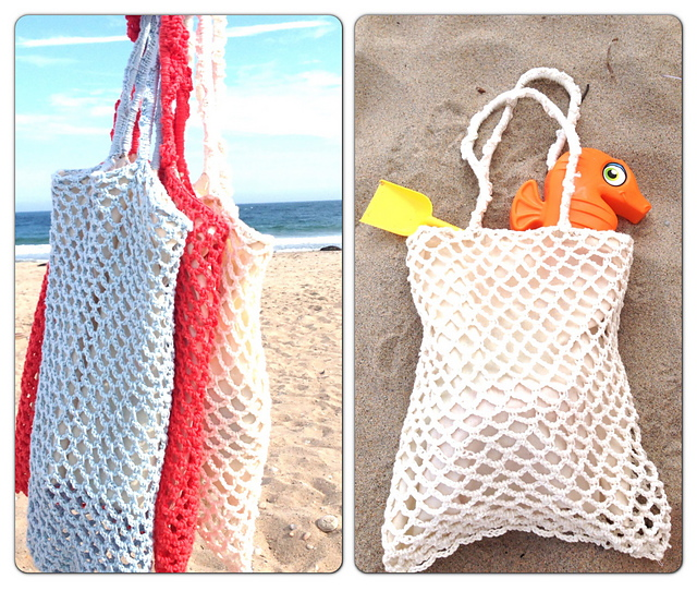 Free Vintage Crochet Bag Pattern : tangled happy: Vintage Beach Bag