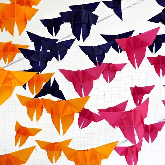 Mariposas, colores, origami, Elixr, Saturday InDesign, Singapore, Dream interiors, butterflies, design event, colorful