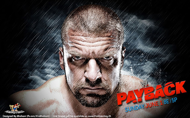 Wallpaper » WWE Payback 2014 HQ Wallpaper (feat. Triple-H) [3D+Digi Sketch] - Designed By Bhabani