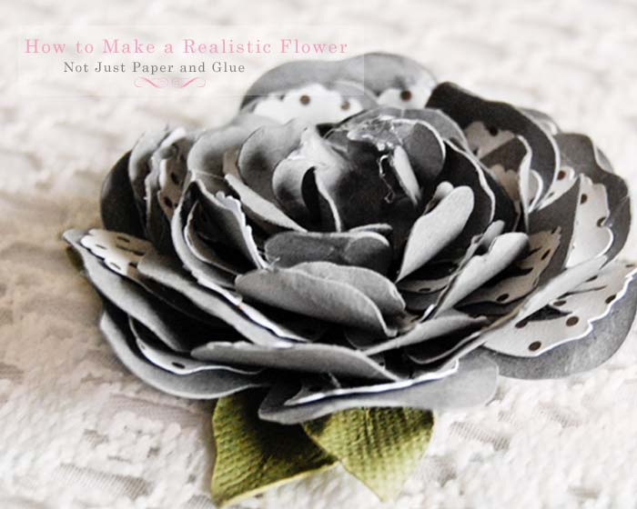 Not Just Paper and Glue: How to Make a Realistic Handmade Paper Flower