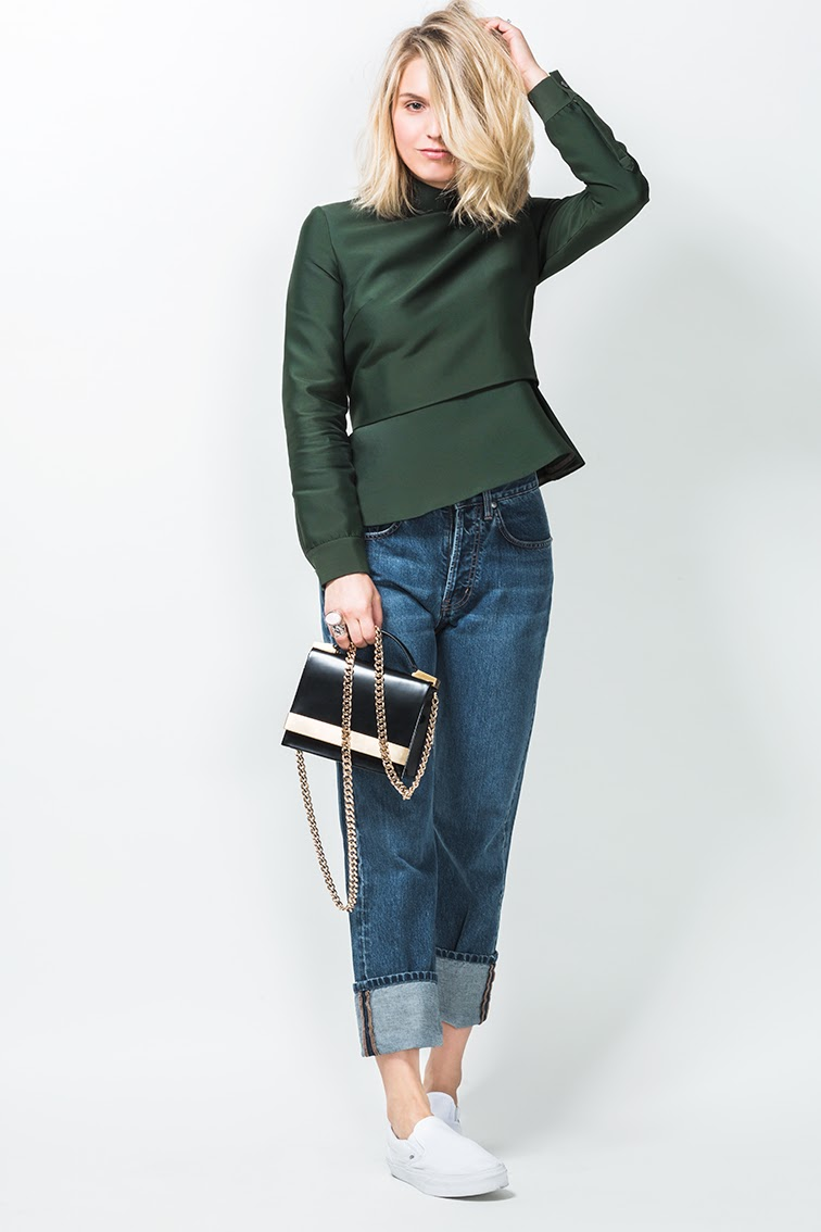 Fashion Over Reason X Keaton row, Bally Switzerland top, MiH jeans, Vans sneakers