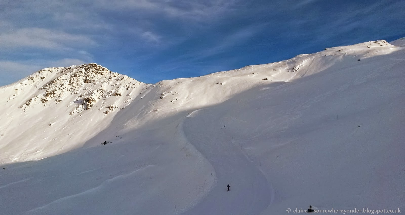 Val Thorens France - a lone skier