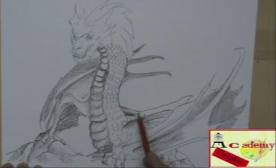 dragone a matita
