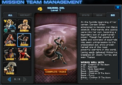 Bio page for Squirrel Girl at Marvel: Avengers Alliance