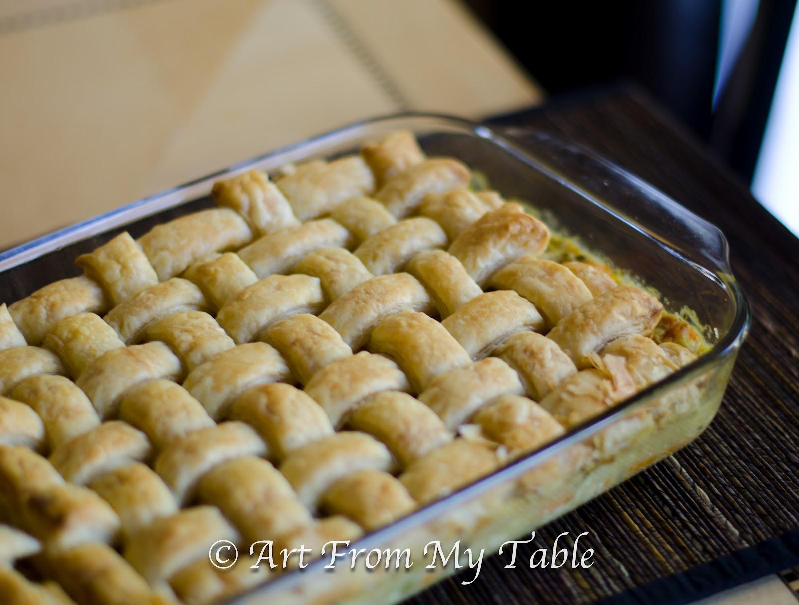 Art From My Table: Chicken Pot Pie Casserole With Sweet Potato & Apple