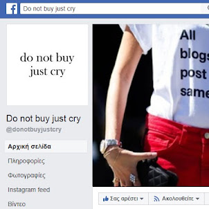 Do not buy just cry Facebook