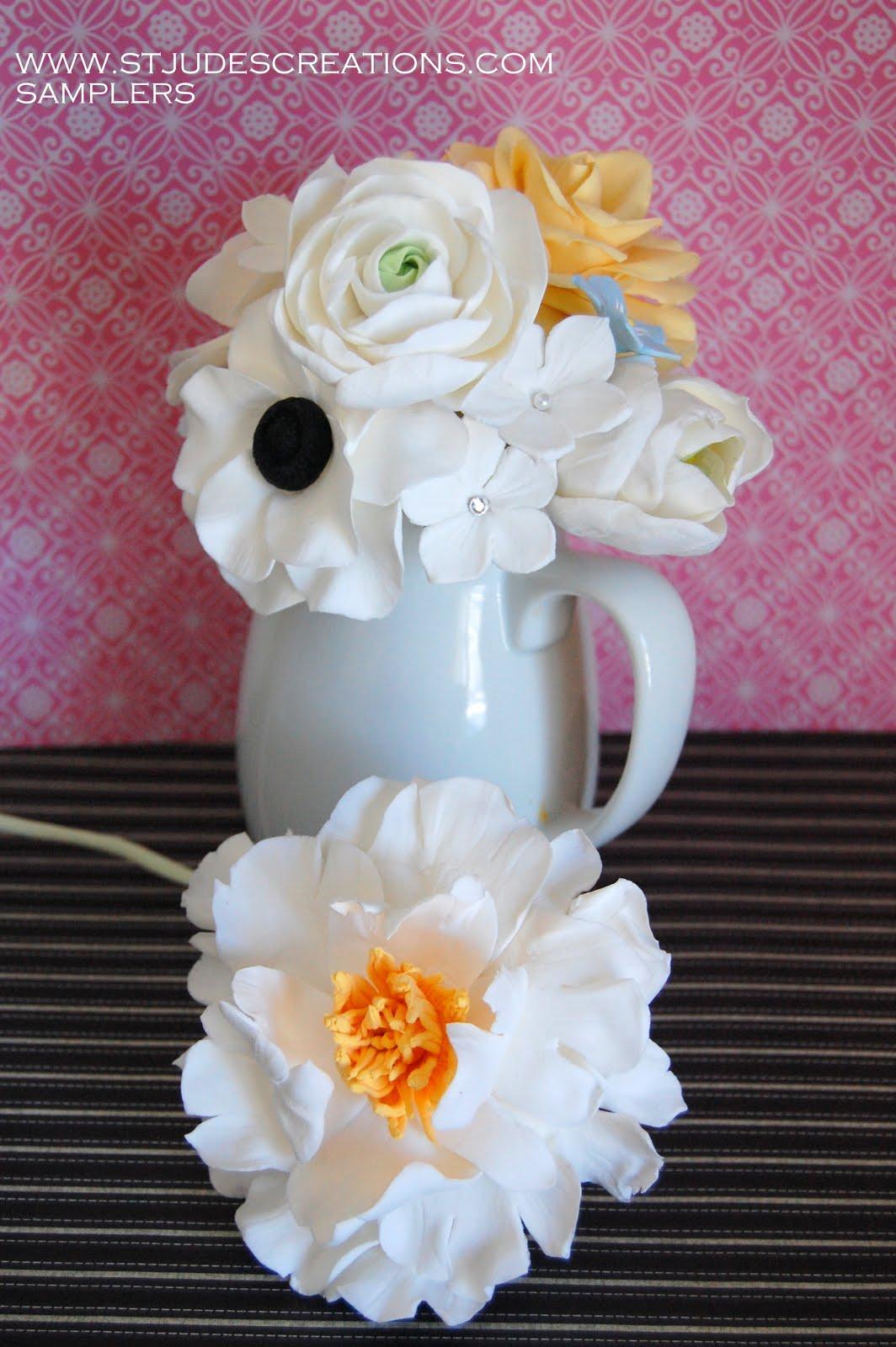 Clay Smaplers Anemoneranunculusrosesgardenia Handmade Paper