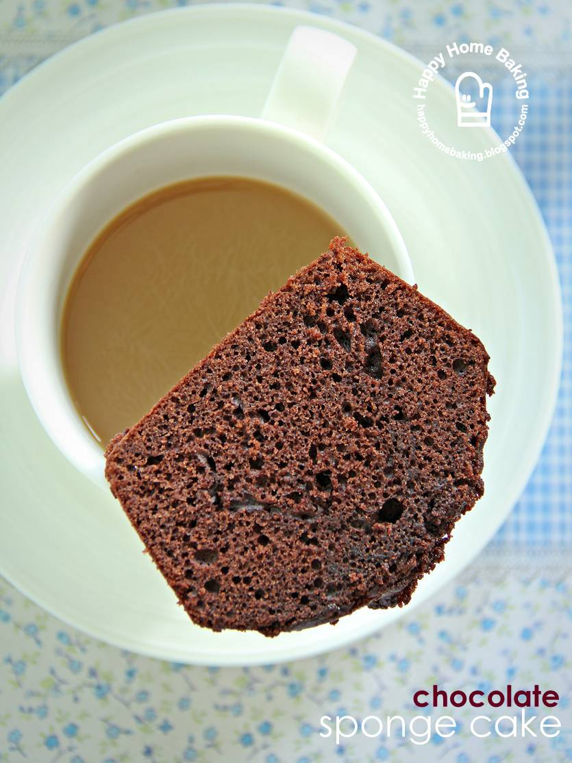 Happy home baking simplicity for Chocolate sponge ingredients