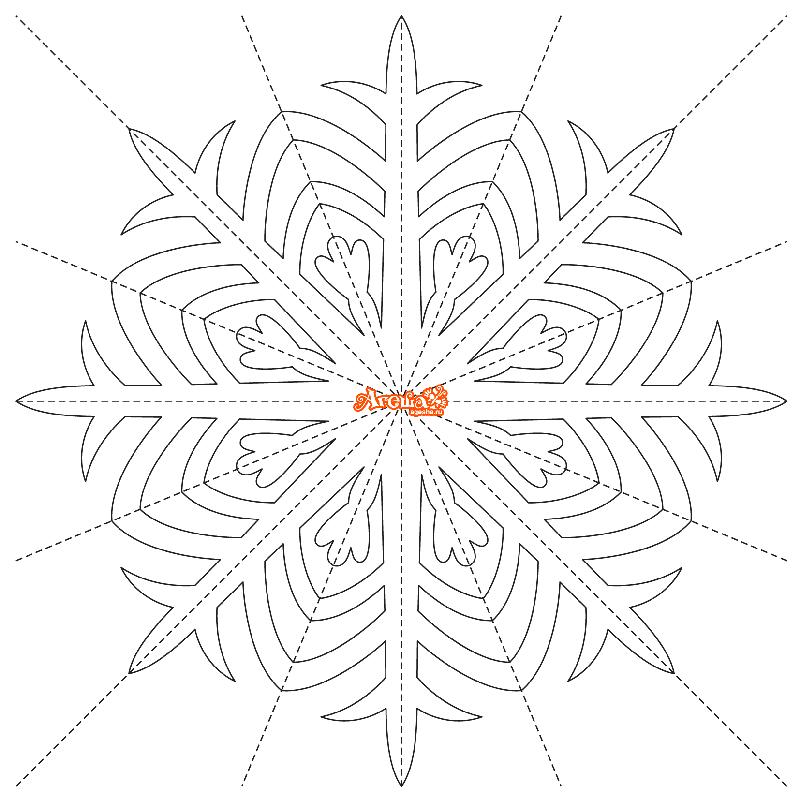 Трафареты снежинок из бумаги на новый год