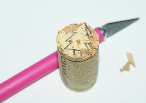DIY Upcycled Wine Cork Stamp Craft Project - How to Make Your Own Stamps