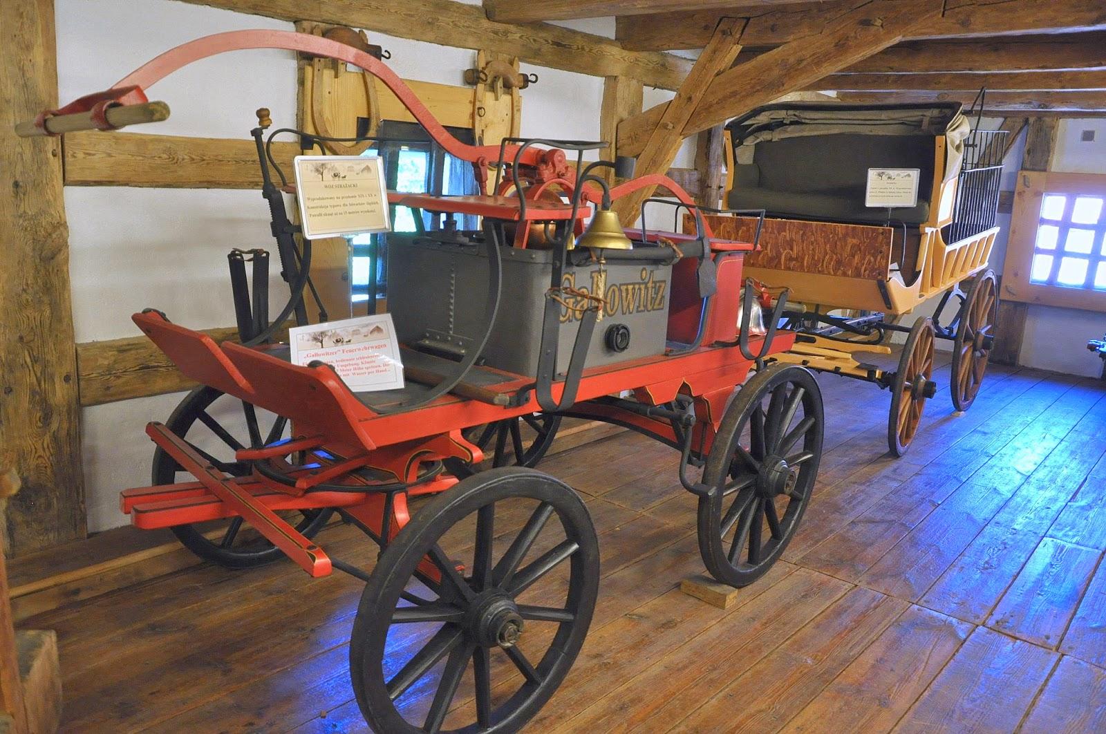 wóz strażacki z Galowitz w muzeum powozów