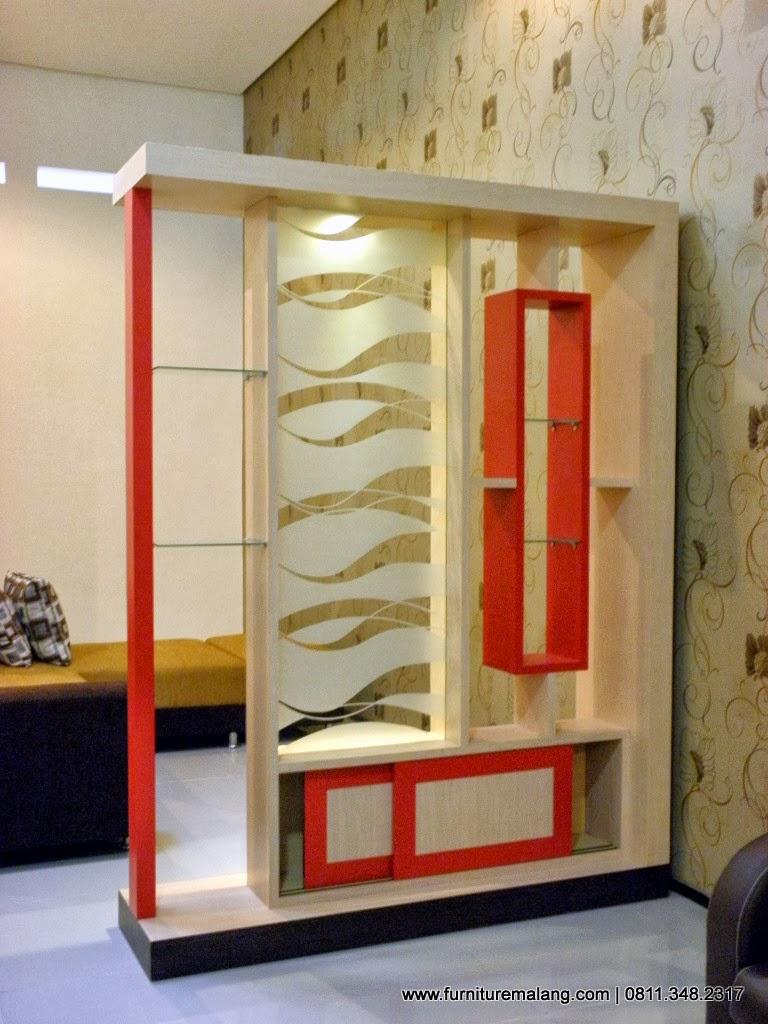 partisi 2 sisi sekat ruangan sekat ruangan minimalis